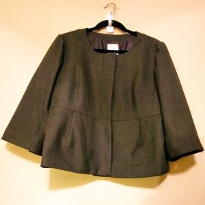 J. Crew 3/4 Pleated Wool Blend Blazer / Jacket